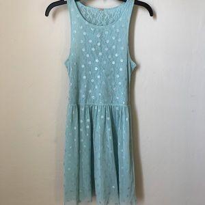 Free People sheer lace polka dot dress